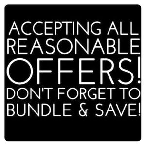 reasonable offers! on most items